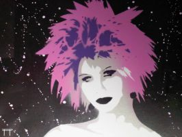 Punk Rock Chick Purple by GateGraffiti