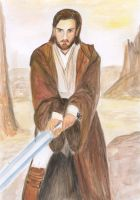 Obi-Wan on Korriban by earlybird-obi-wan