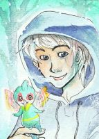 Rise of the Guardians - ACEO Jack + Baby Tooth by Pandablubb