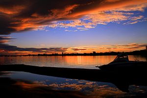 Sunset In Mar Menor by ximocampo