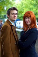 10th Doctor And Donna Noble by DNomNettash