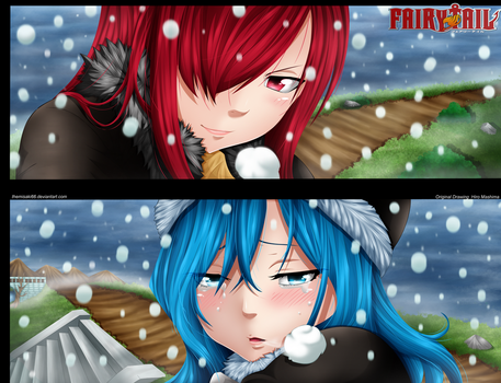 Fairy Tail - Erza and Juvia ! by themisaki66