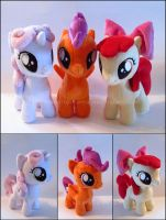 Plushie: Cutie Mark Crusaders by Serenity-Sama