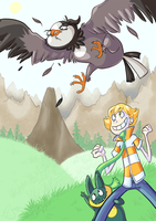 GO GO GO STARLY by WindupFruitcake