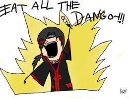 Itachi-EAT ALL THE DANGO by Kimaruuww