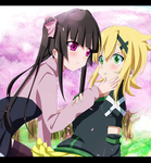 Kirika and Shirabe Commission 4 Coloring by Planeptune