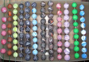 Homemade clay beads by ladytech