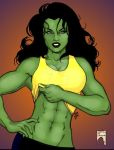 She-Hulk Abs of Steel by THE-Darcsyde