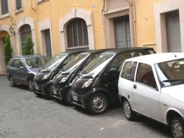 Rome-Parking 3x1 by silvioverderosa