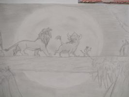 Drawing Of Timon, Pumbaa, and Simba that I made by Heatherannpt
