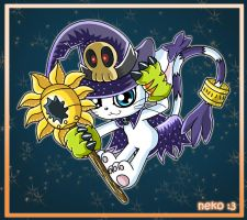 Wizard Gatomon by McSadat