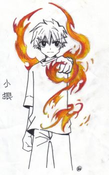 Syaoran Li_ Feel the fire by Xiao-Lang