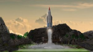 Thunderbird 1 Lift Off by PUFFINSTUDIOS