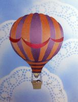 Hot Air Balloon-Stencil Print1 by darcydoll