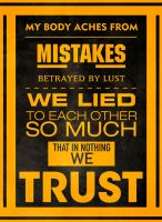 Trust - Megadeth Typography by Archaox