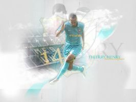 Thierry Henry Barcelona by urban-graphix