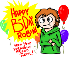 Birthday art by: Lazersofa by RobbanFoxer