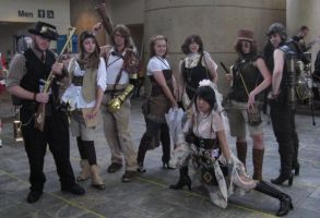 Steampunk Group Otakon by Jujubeeoflove