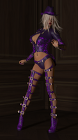 Purple Floral Coquine by cwichura