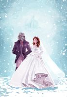 Rumbelle- Winter wedding by snoprincess