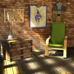 Man Cave by fence-post