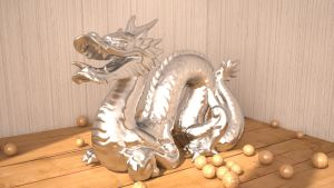 Cinema 4D -- MatT ChromE DragoN by SMOKEYoriginalHD