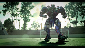 Optimus Prime playing soccer by DSPA360