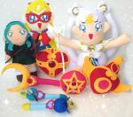 Sailor Moon Custom Plush Collection by aleena