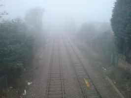 Fog and frost on the railway 2 by rudeturk