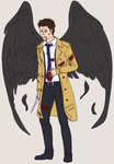 Castiel WIP by metal-marty