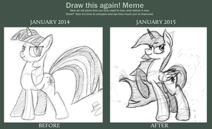 Before and After - 1 Year of Art by D0ubleRainb0wDash
