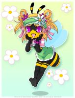 one happy little bee by luna777