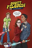 Scottpilgrim Vs. Community by kinjamin