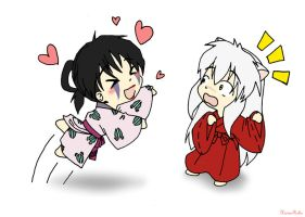 Jakotsu and InuYasha by HavenRelis