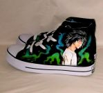 Hand painted death note shoes by augurlee