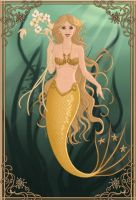 Golden Mermaid by WhisperingWindxx