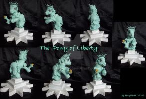 My little Pony Custom The Pony of Liberty by BerryMouse