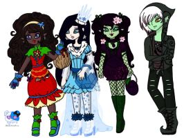 My Ever After High OCs by Chizeropa