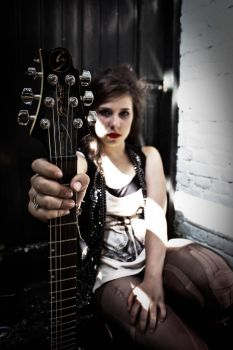 girl in a rock and roll band by Mireille203