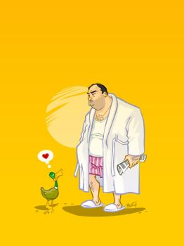 Tony Soprano and friend by ADN-z