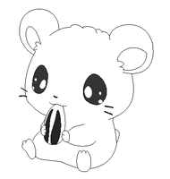 hamster lineart1 by michy123