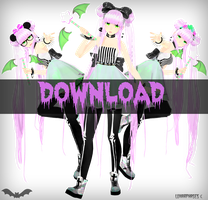 Ikumi MMD  Pastel Goth Download by LunarPhases