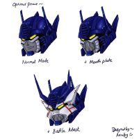 optimus prime head redesign by micky86