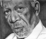 Morgan Freeman by shonechacko