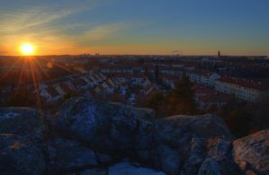 Sunset from Mountain Top VI by HenrikSundholm