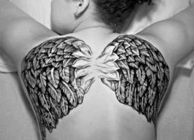 Wings Tattoo Backpiece by Liz1ttrstudio