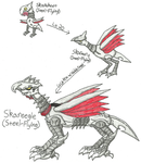 Fakemon - Skarmory Family by UltimateRidley