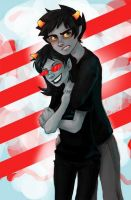 Karkat X Terezi by LargM