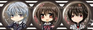 Vampire Knight Button Set by jinyjin