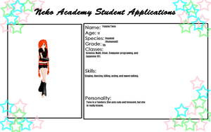 Neko Academy Student Application by Yozane